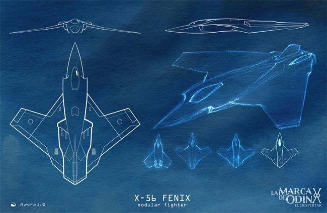 X-56 Blueprint